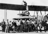 Picture relating to Queensland - titled 'G-EAOU biplane'