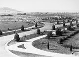 Picture of / about 'Parliament House' the Australian Capital Territory - View from Old Parliament House towards Duntroon showing young trees and roads