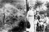 Picture relating to Logan River - titled 'Flanagan Family at Logan River, Queensland, 1911'