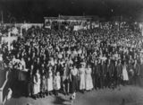 Picture relating to Charters Towers - titled 'Revival meeting at the Olympic Theatre in Charters Towers, 1912'