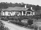 Picture relating to Red Hill - titled 'Home of Mr. Harry Sheehan 12 Mugga Way, Red Hill and gardens.'
