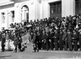 Picture relating to Parliament House - titled 'ANZAC Day parade, Old Parliament House - Part of the crowd.'