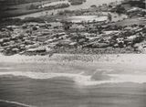 Picture relating to Gold Coast - titled 'Aerial view of Surfers Paradise, Queensland, ca. 1952'