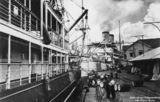 Picture relating to Brisbane - titled 'Ships docked at the Brisbane City Wharves, ca. 1935'