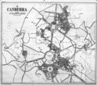 Picture relating to Canberra - titled 'Photo of Canberra map'
