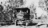 Picture relating to Inglewood - titled 'Garrett steam wagon outside Inglewood, 1924'