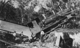 Picture relating to Mount Chalmers - titled 'Mount Chalmers railway accident, 1911'