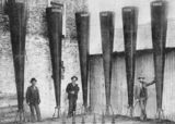 Picture relating to Charleville - titled 'Battery of Stiger Vortex rain-making guns at Charleville, 1902'