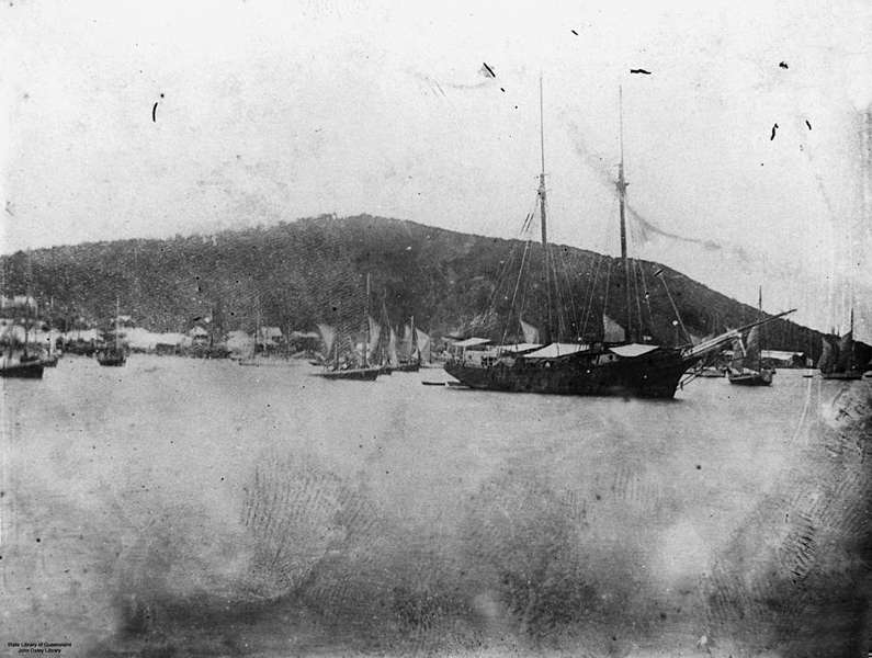 Picture of / about 'Thursday Island' Queensland - Pearling fleet at Thursday Island, Queensland