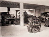 Picture relating to Kingston - titled 'Printing machinery in Government Printing Office, Wentworth Avenue, Kingston.'