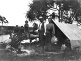 Picture relating to Fraser Island - titled 'Byrne family camping at 'The Waterhole', Fraser Island, Queensland, ca. 1907'