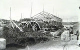 Picture relating to Canberra - titled 'Brick kilns at Canberra Brickworks Yarralumla, under construction.'