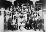 Picture relating to Charters Towers - titled 'Citizens Group in front of the Charters Towers Town Hall, 1926'