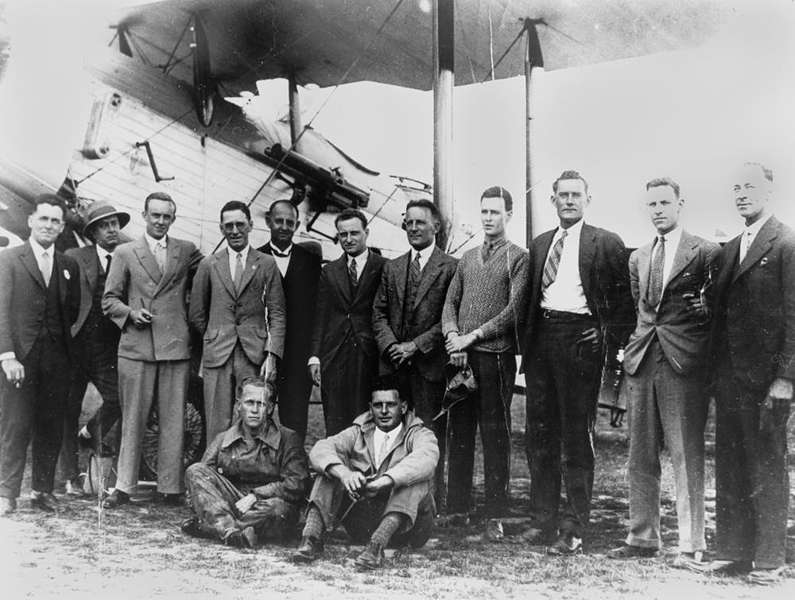 Picture of / about 'Rockhampton' Queensland - Rockhampton Aerial Services staff, ca. 1937