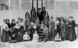 Picture relating to Stanthorpe - titled 'Staff and students of St. Catharine's Girls' School, Stanthorpe'