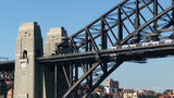 Picture relating to Sydney Harbour Bridge - titled 'Train crossing the Sydney Harbour Bridge'