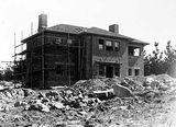 Picture relating to Mount Stromlo Observatory - titled 'Director's house, Mount Stromlo Observatory, under construction.'