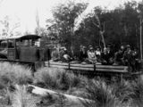 Picture relating to Canungra - titled 'Governor Sir Matthew Nathan visiting the Cunungra Pine Creek Tramway, 1922'