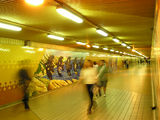 Picture relating to Central - titled 'Central Station - underground walkway to suburban platforms.'