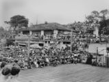 Picture relating to Suttons Beach - titled 'Crowd watching the Sun Girl Quest at Suttons Beach, 1953'