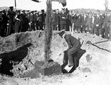 Picture relating to Canberra - titled 'Visit to Canberra of Young Australia League boys from Western Australia. Tree planting ceremonies.'