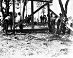 Picture relating to Ainslie - titled 'Construction of playground at Corroboree Park, Ainslie.'