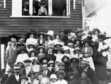 Picture relating to Crohamhurst - titled 'Group at Crohamhurst State School, ca. 1909'