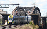 Picture relating to Footscray - titled 'Railway Bridge at Footscray'