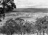 Picture relating to Red Hill - titled 'View from Red Hill over Manuka and Kingston to Duntroon. Collins Park in front.'