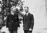 Picture relating to Scullin - titled 'Prime Minister Rt Hon J. H Scullin and Governor General, Lord Stonehaven at Government House, Yarralumla.'