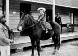 Picture relating to Biggenden - titled 'Jack Router on his pony at Biggenden Hotel, Biggenden, Queensland'