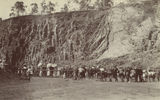 Picture relating to Toowoomba - titled 'Spectators gather at the Bridge Street Quarry, Toowoomba, ca. 1925'