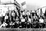 Picture relating to Tully - titled 'Inaugural meeting of the Tully Irish Club at Sarvey Boarding House'