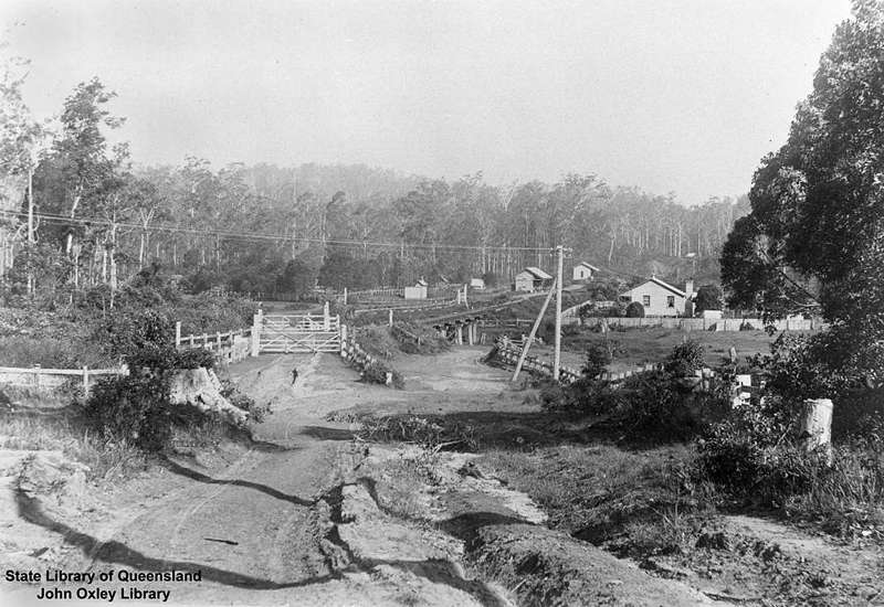 Picture of / about 'Eudlo' Queensland - View over the Eudlo Railway Station, Eudlo, 1907