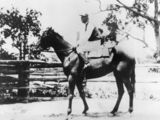 Picture relating to Nebo - titled 'Mint Bush and jockey Joe Carmody, Nebo, 1934'