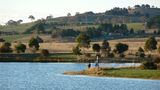 Picture of / about 'Dunlop' the Australian Capital Territory - Fishing on the dam at the back of Dunlop