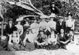 Picture relating to Queensland - titled 'Woodford residents, the Beanland Family, at a reunion'