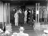Picture relating to Bruce - titled 'Rt Hon S M Bruce welcoming the Duke and Duchess of York at Canberra Railway Station'