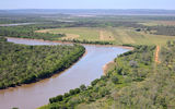 Picture relating to Bullo River - titled 'Bullo River & Airstrip'