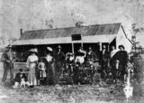 Picture of / about 'Widgee' Queensland - Group of people in front of W.Wilson's Hotel at Widgee