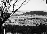 Picture relating to Braddon - titled 'Reid and Braddon from Mount Ainslie, Ainslie Hotel and Civic buildings on left.'