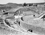Picture relating to Weston Creek - titled 'Weston Creek sewerage treatment works, construction of trickling filters and Imhoff sedimentation tanks on the left.'