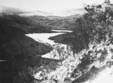 Picture relating to Cotter Dam - titled 'Upstream, Cotter Dam and wall.'