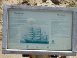 "Picture relating to Cape Bridgewater - titled 'The ""Marie "" and the ""Jane"" vessel information sign'"