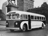 Picture relating to Sydney - titled 'Black and White bus which serviced the Sandgate to Brisbane run, ca. 1948'