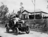 Picture relating to Queensland - titled 'L'Estrange family in the car going for a drive'