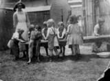 Picture relating to Woolloongabba - titled 'Children at the Fiveways Kindergarten, Brisbane.'