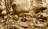 Picture of / about 'Girraween National Park' New South Wales and Queensland - Group of day-trippers with large boulders at Girraween National Park
