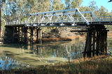 Picture relating to Wakool River - titled 'Wakool River at the Gee Gee Bridge near Noorong.'