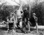 Picture relating to Brisbane - titled 'Young men on a social outing, Brisbane, 1890-1900'